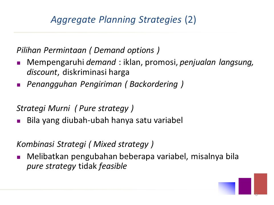 Aggregate Planning Strategies (2)