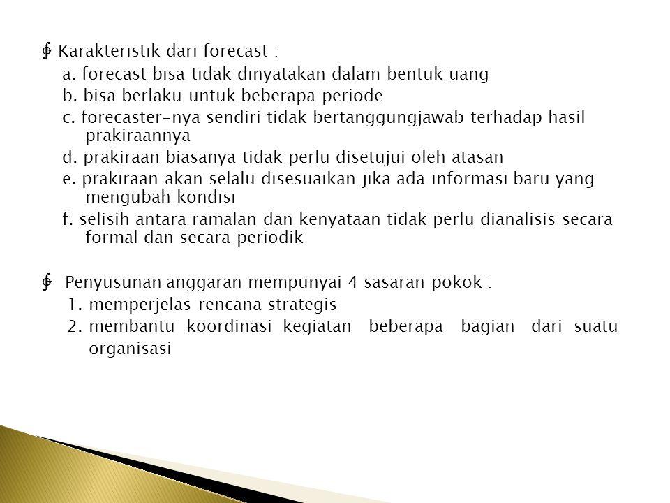 ∲ Karakteristik dari forecast :