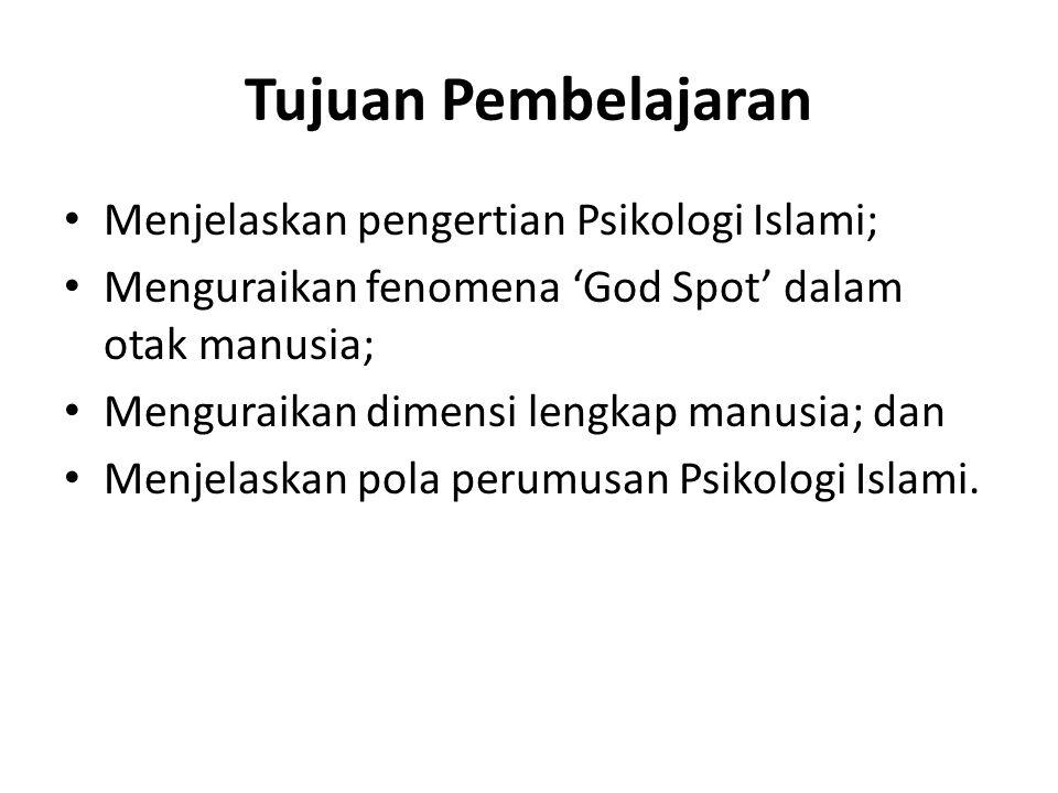 Tujuan Pembelajaran Menjelaskan pengertian Psikologi Islami;