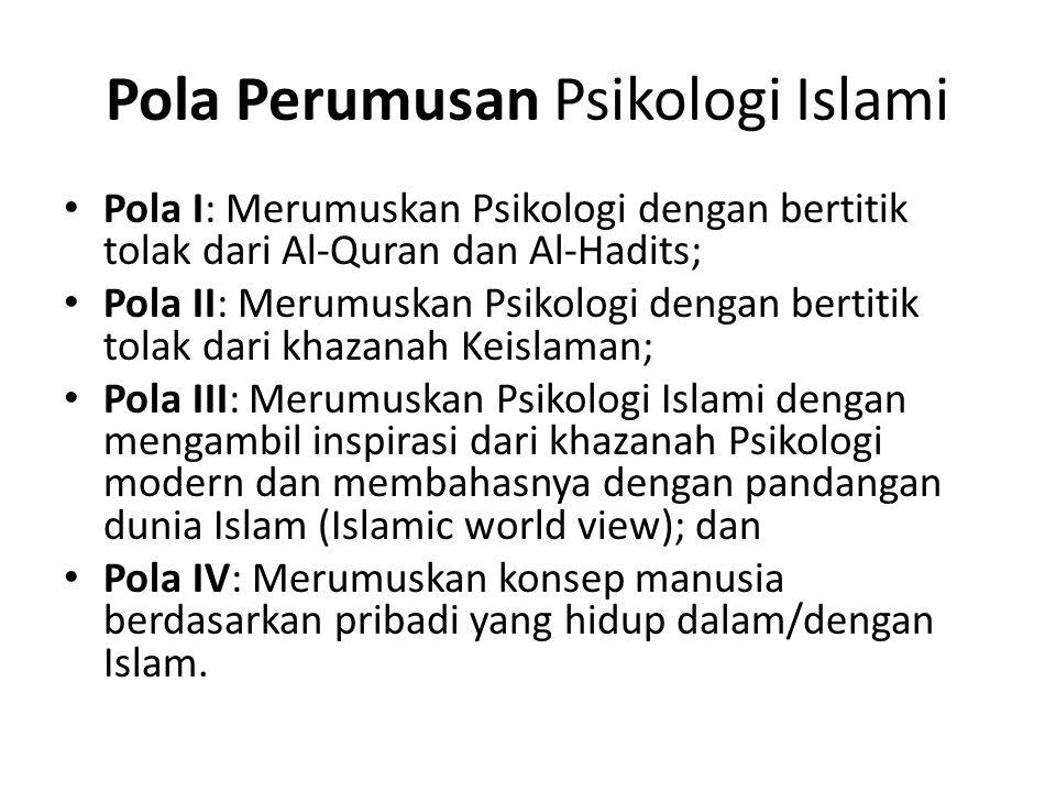 Pola Perumusan Psikologi Islami