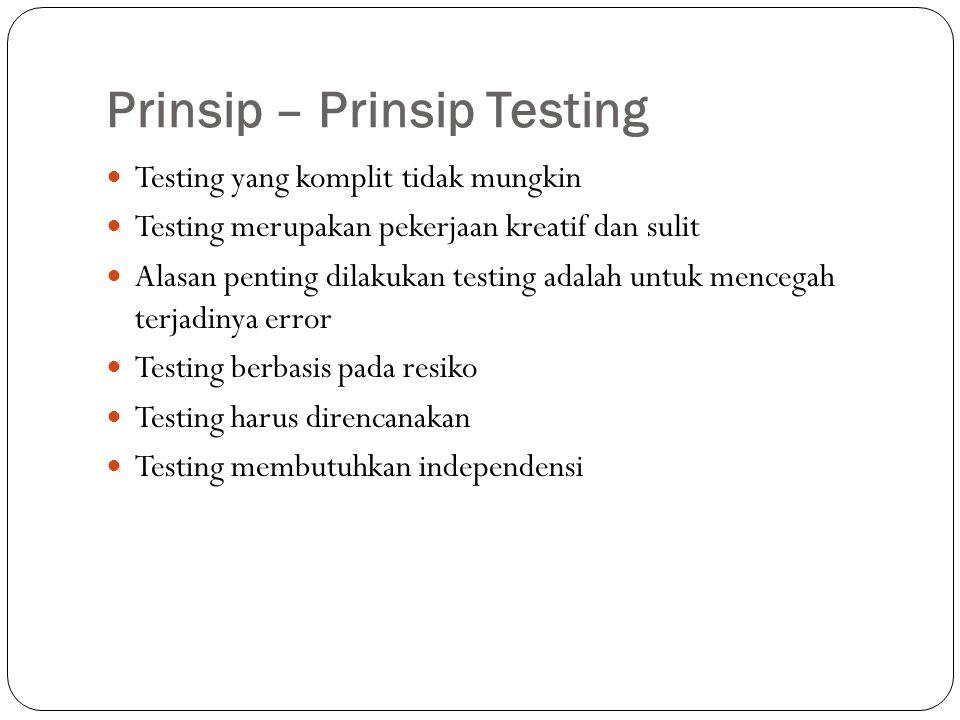 Prinsip – Prinsip Testing