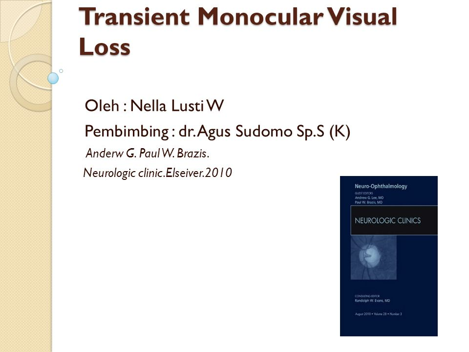Transient Monocular Visual Loss