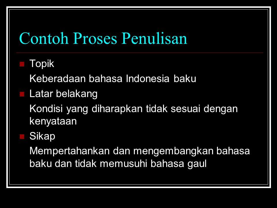 Contoh Proses Penulisan