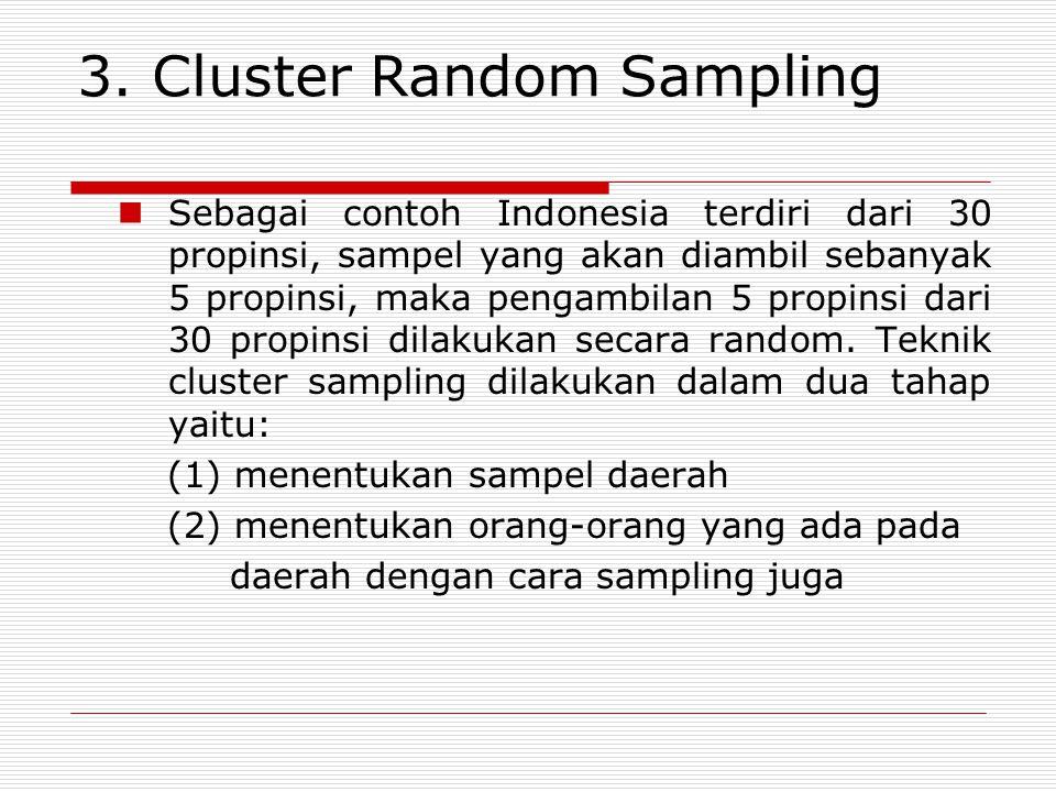 3. Cluster Random Sampling