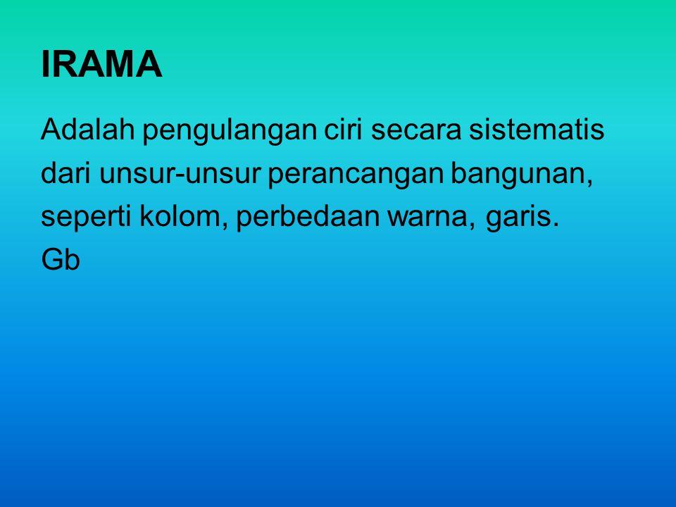 IRAMA Adalah pengulangan ciri secara sistematis
