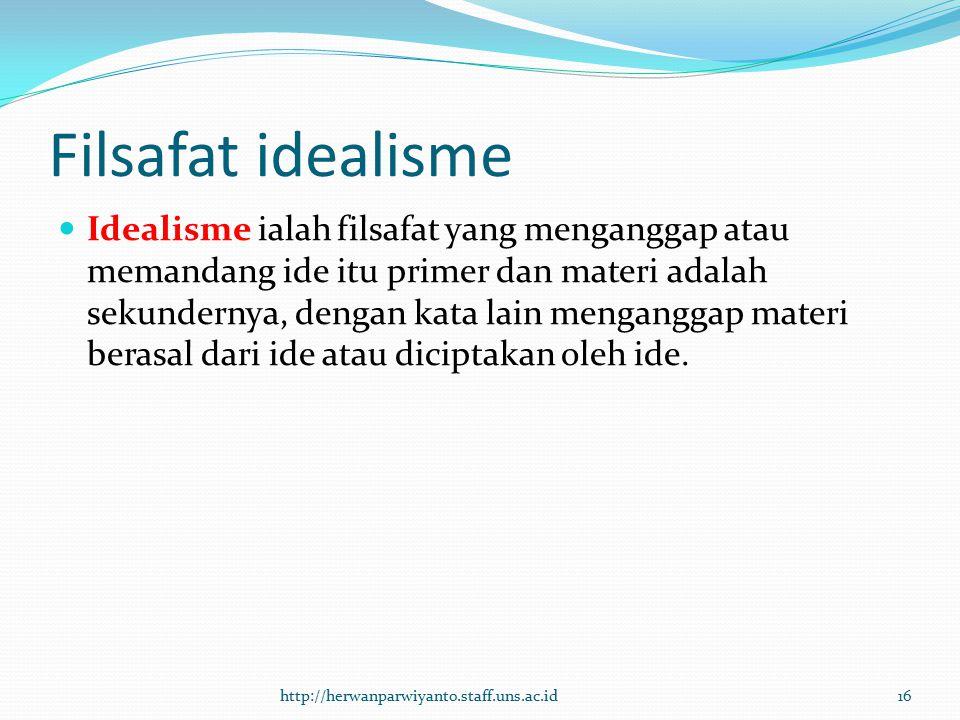 Filsafat idealisme