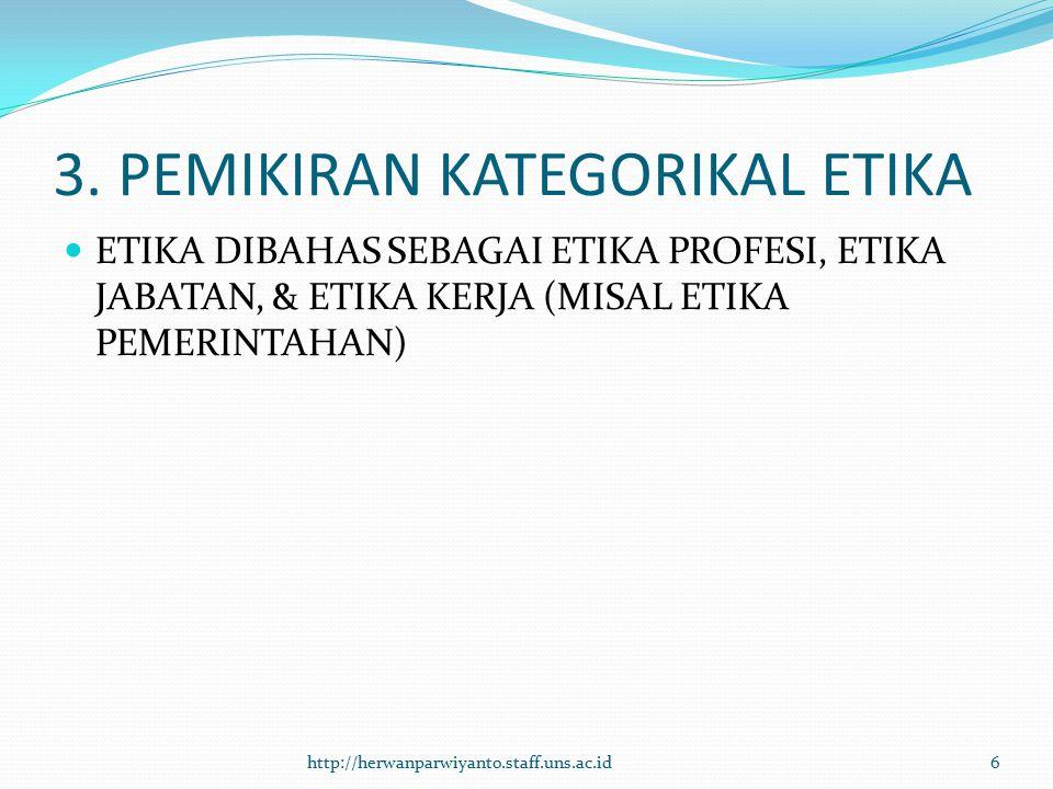3. PEMIKIRAN KATEGORIKAL ETIKA