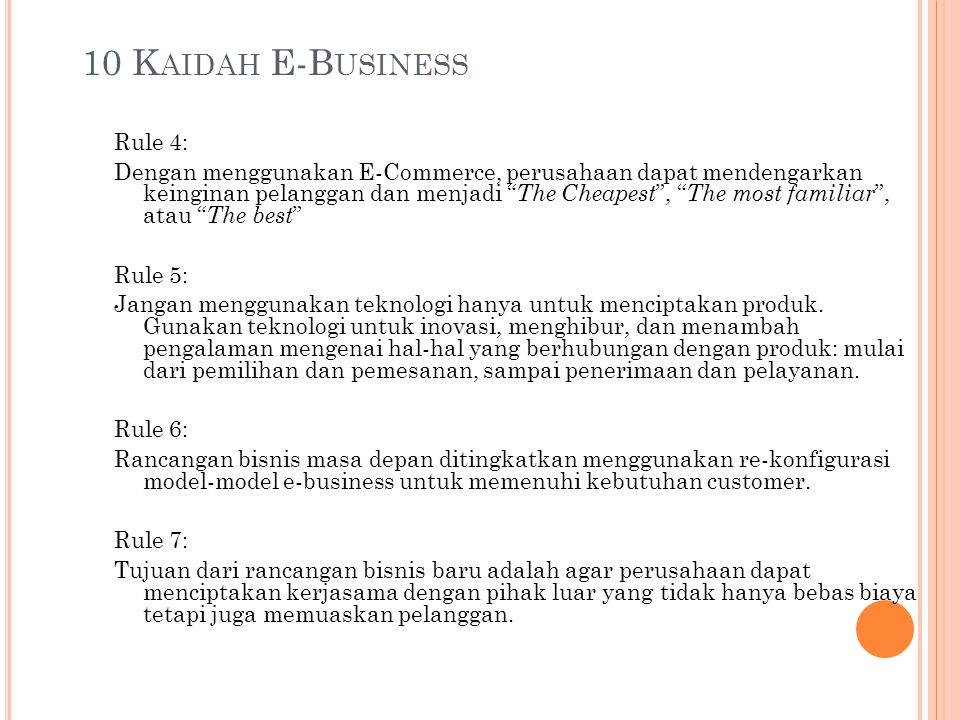 10 Kaidah E-Business