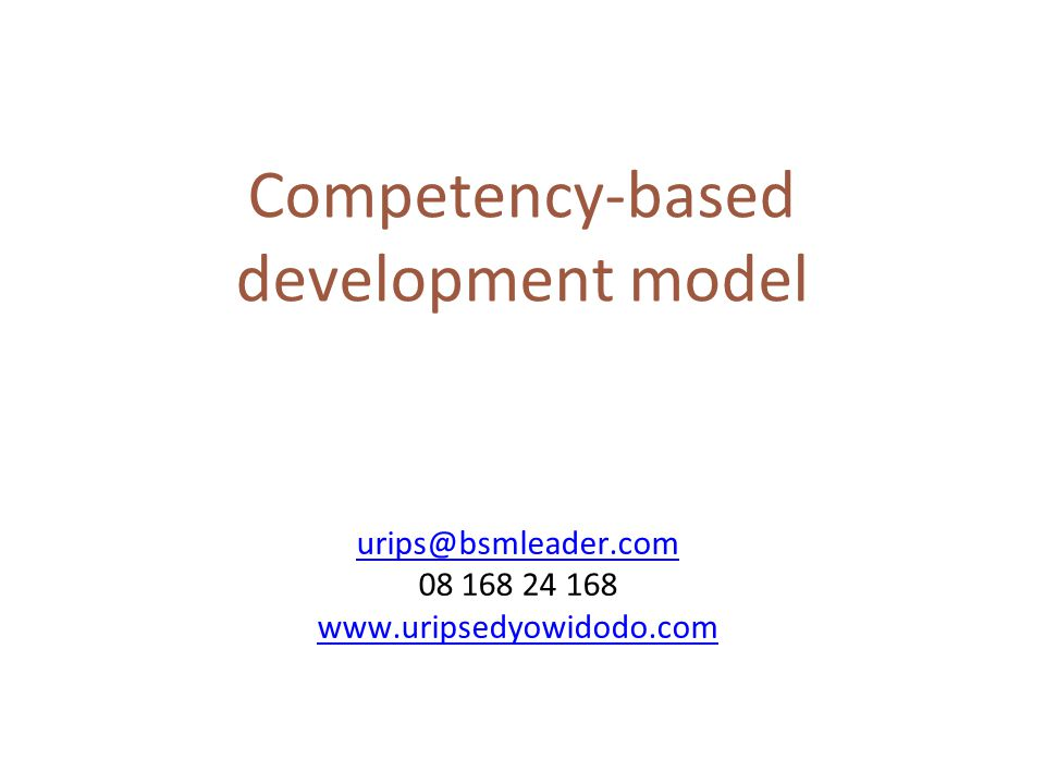 Competency-based development model