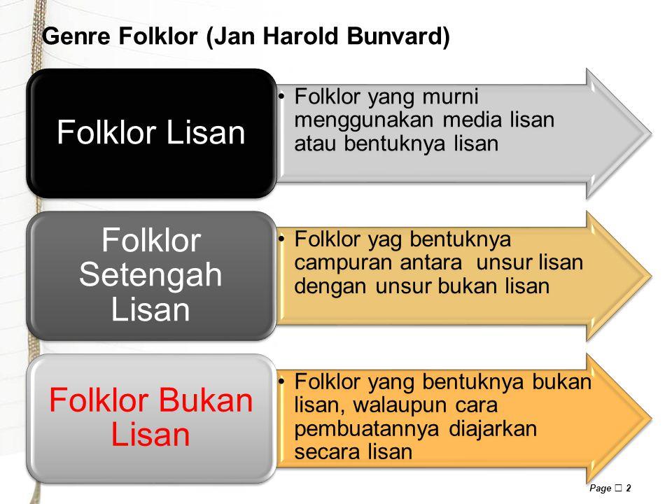 Genre Folklor (Jan Harold Bunvard)