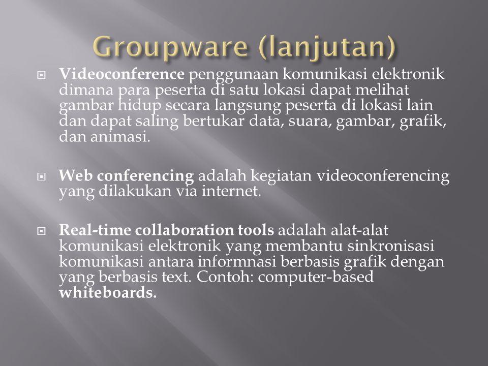 Groupware (lanjutan)