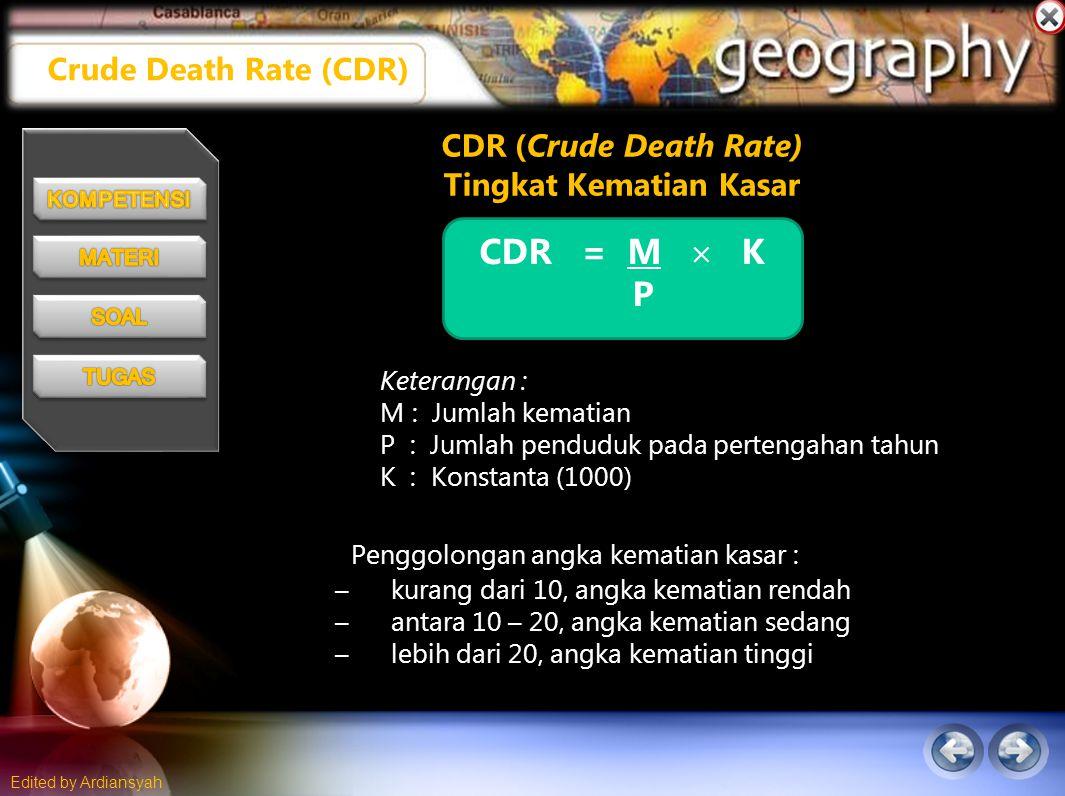 CDR (Crude Death Rate) Tingkat Kematian Kasar