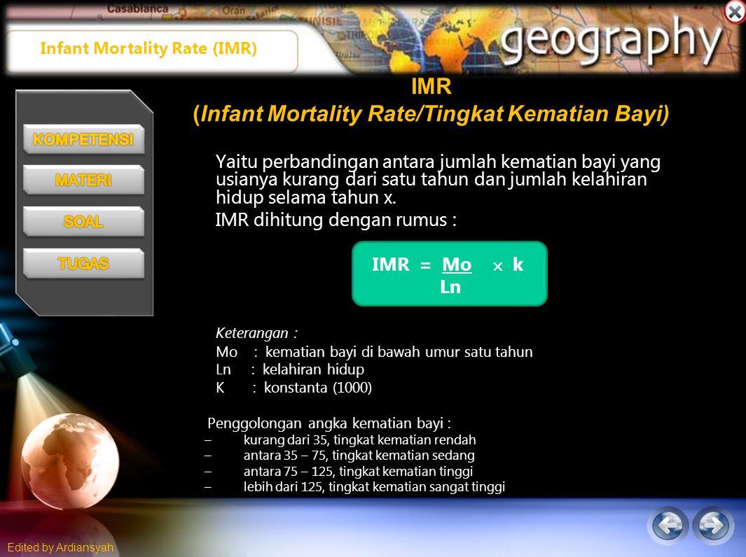 IMR (Infant Mortality Rate/Tingkat Kematian Bayi)