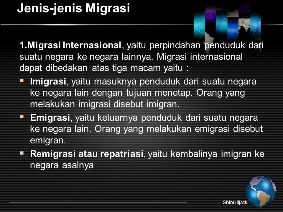 Jenis-jenis Migrasi