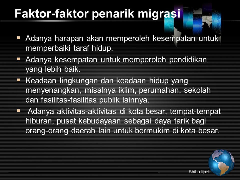 Faktor-faktor penarik migrasi