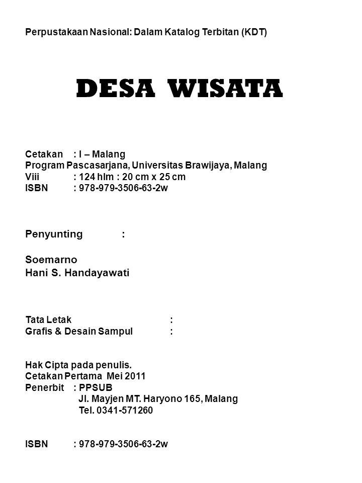 DESA WISATA Penyunting : Soemarno Hani S. Handayawati