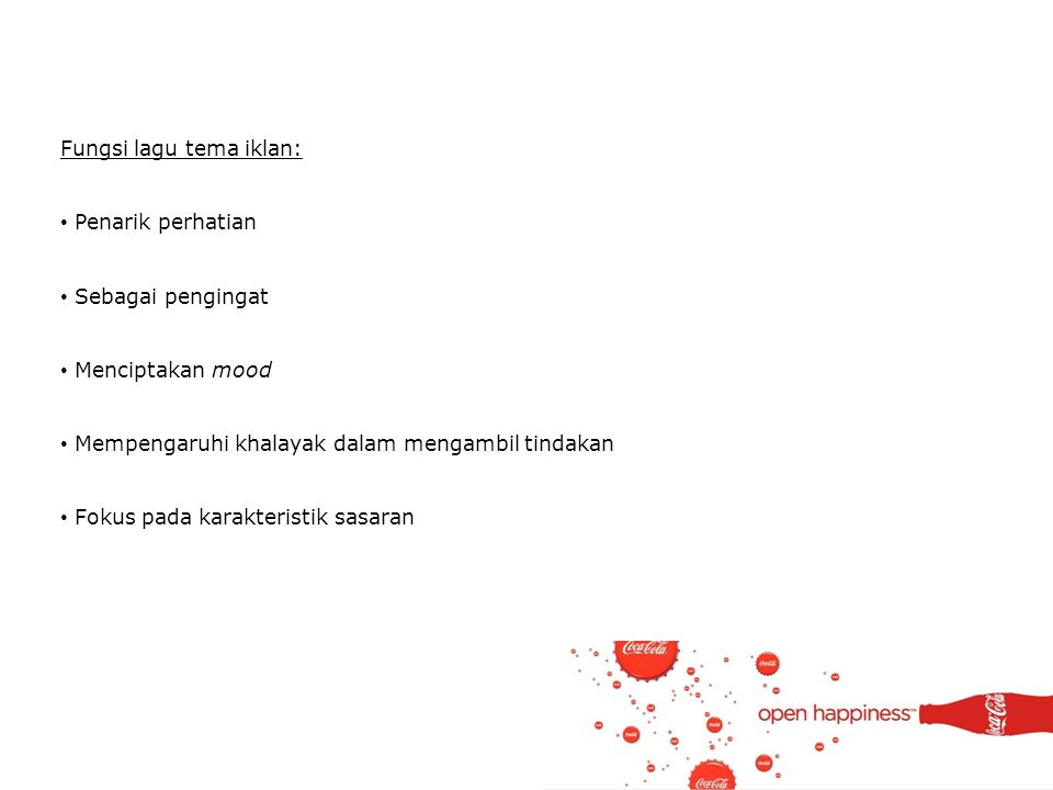 Fungsi lagu tema iklan: