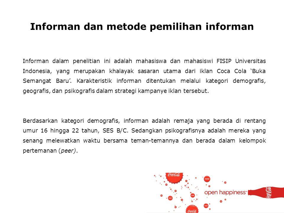 Informan dan metode pemilihan informan