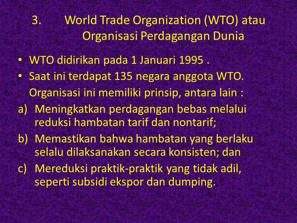 World Trade Organization (WTO) atau Organisasi Perdagangan Dunia