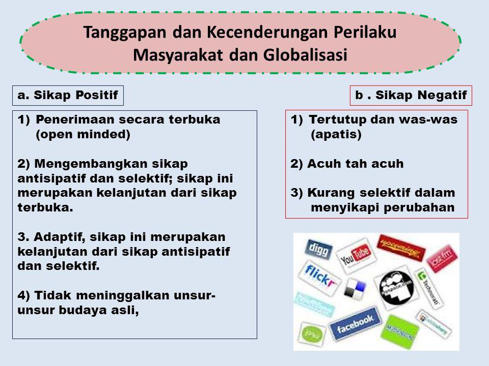 Tanggapan dan Kecenderungan Perilaku Masyarakat dan Globalisasi
