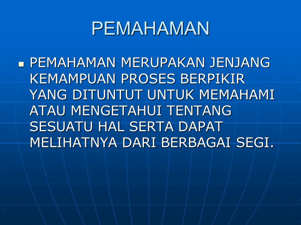 PEMAHAMAN