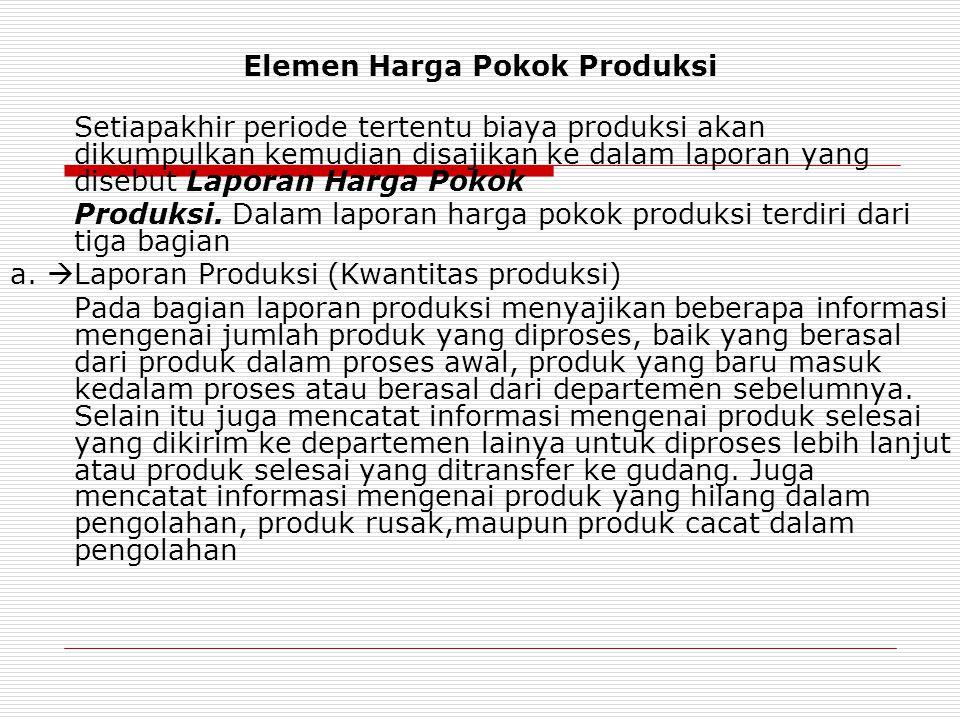 Elemen Harga Pokok Produksi