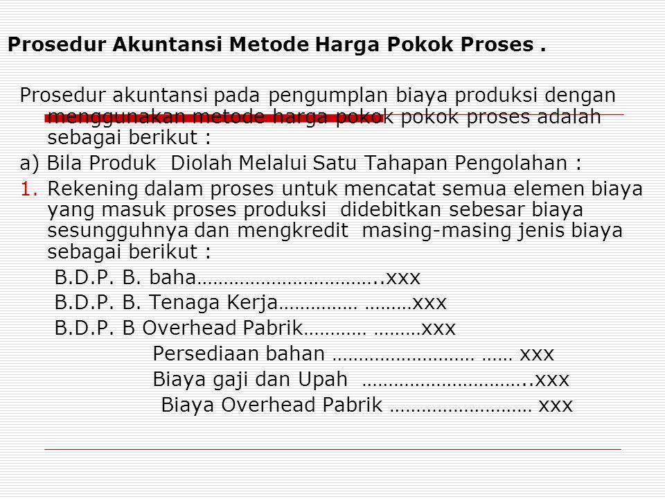 Prosedur Akuntansi Metode Harga Pokok Proses .