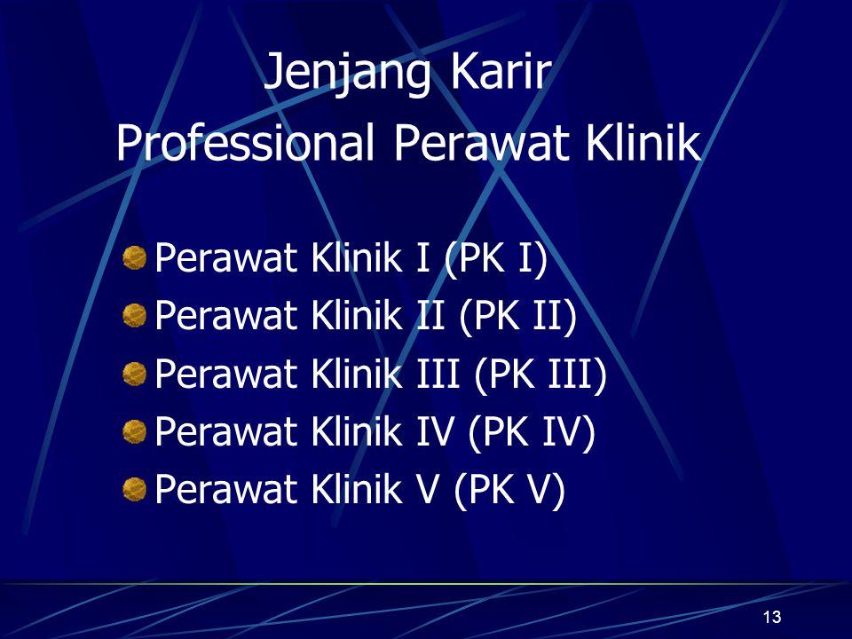 Jenjang Karir Professional Perawat Klinik