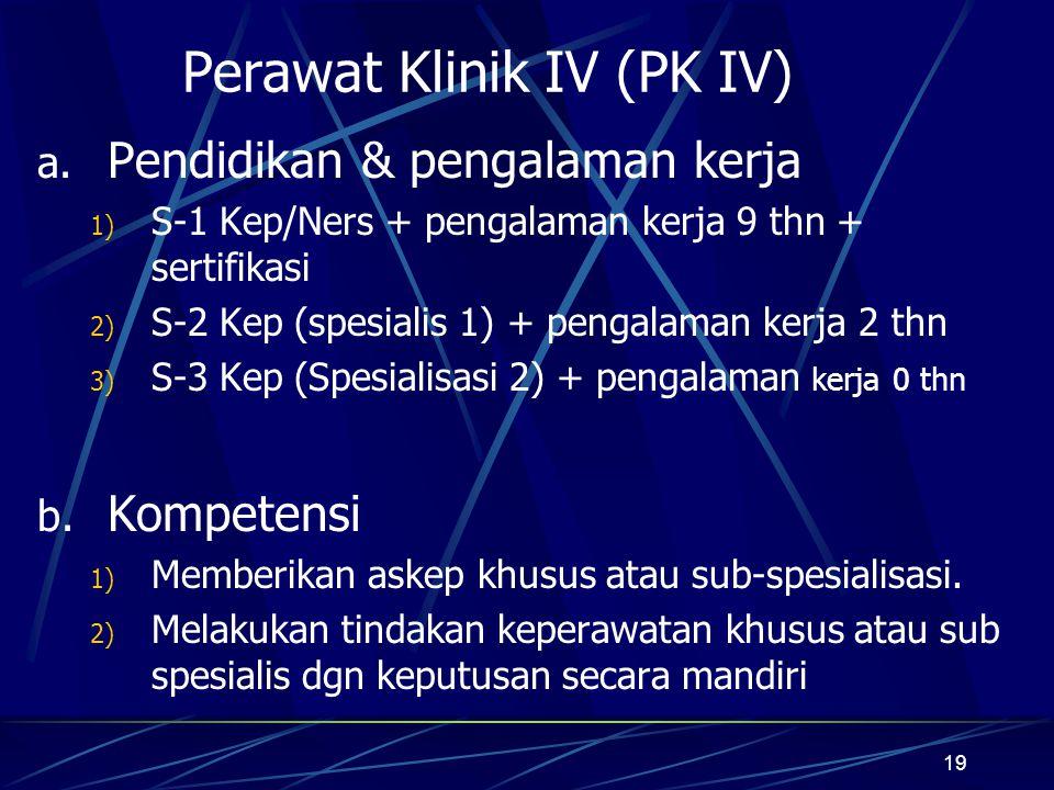 Perawat Klinik IV (PK IV)