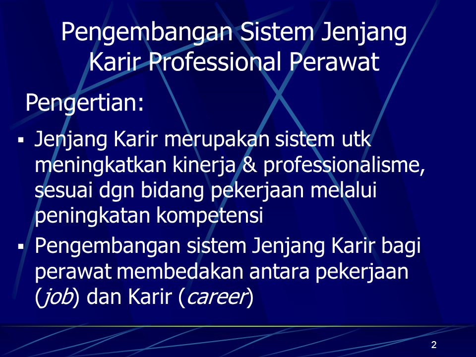 Pengembangan Sistem Jenjang Karir Professional Perawat