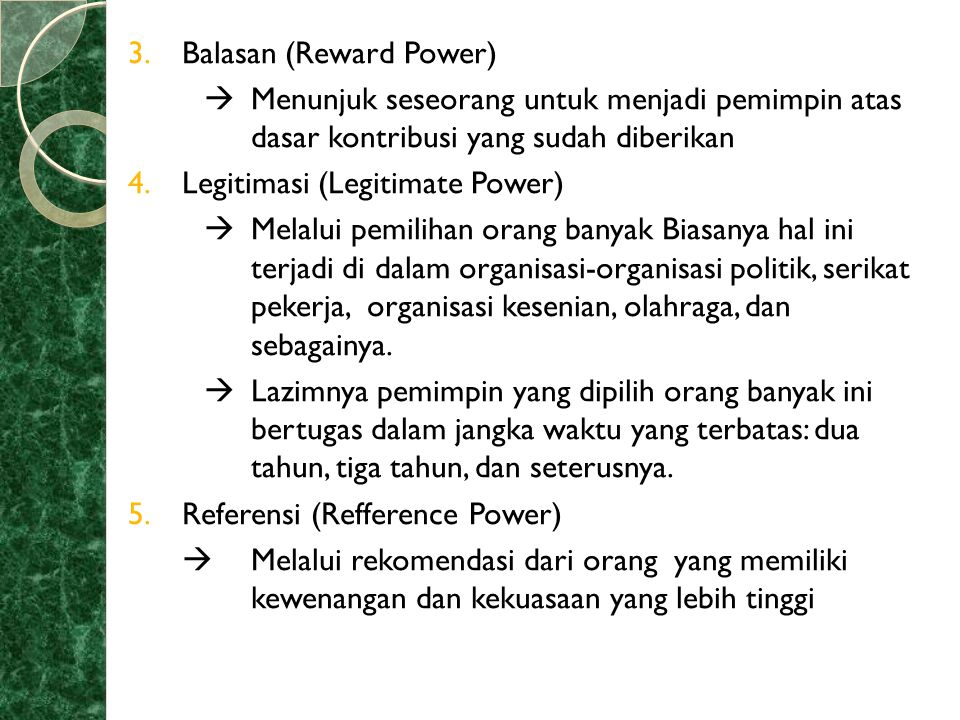 Balasan (Reward Power)