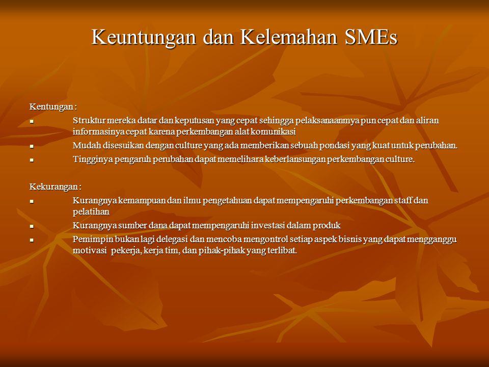 Keuntungan dan Kelemahan SMEs