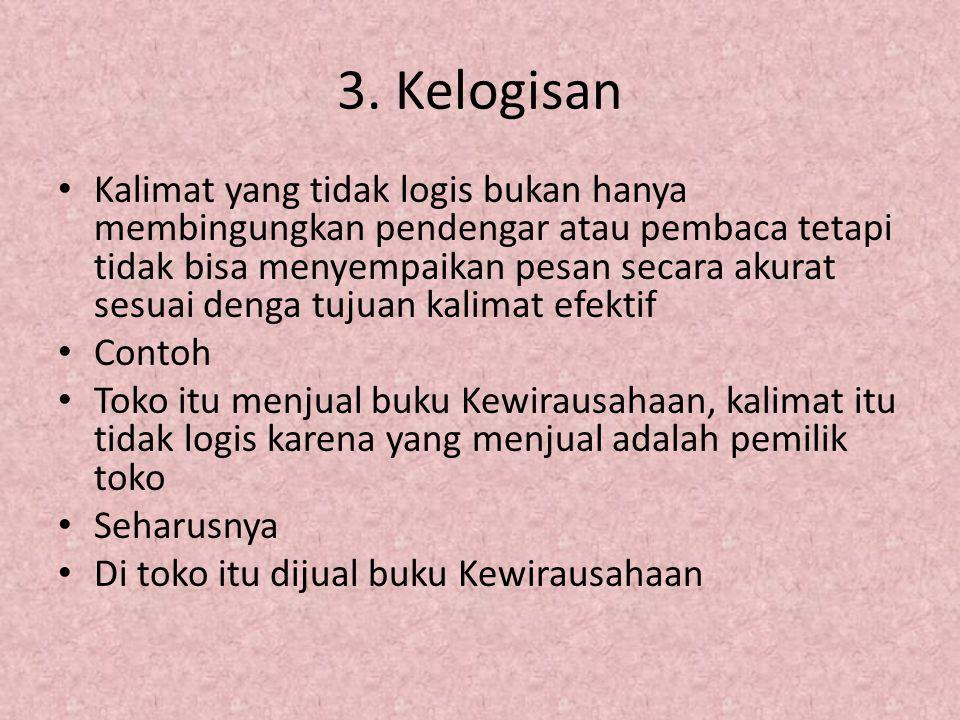 3. Kelogisan