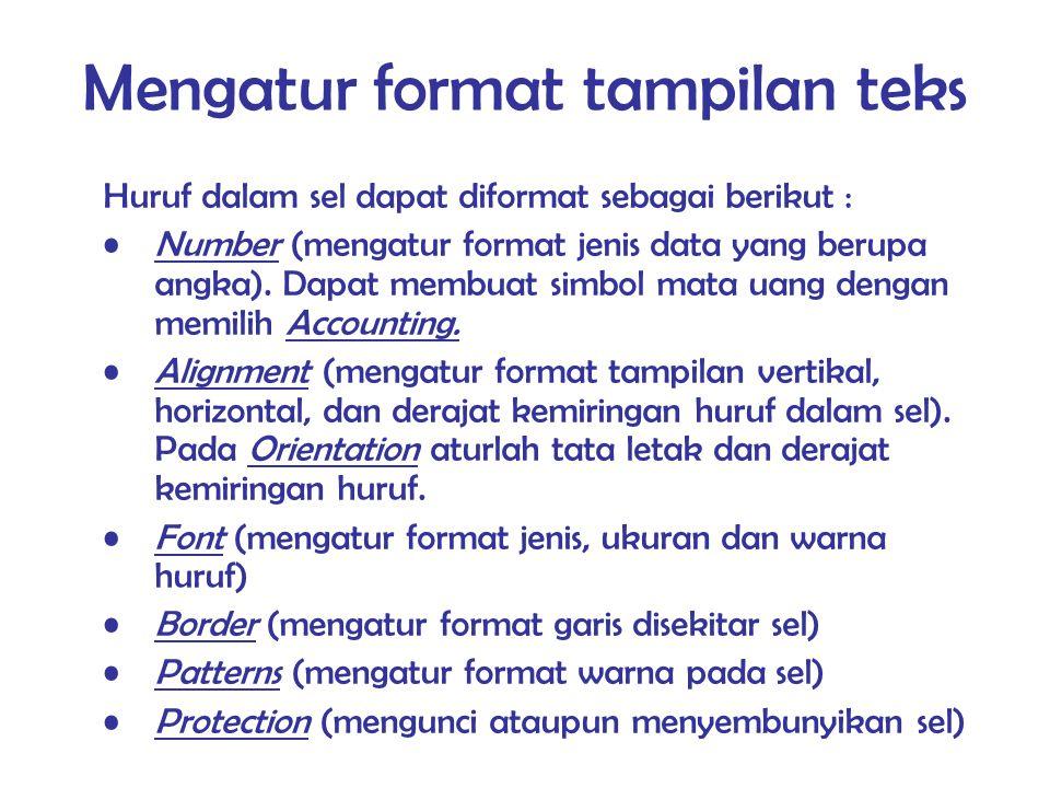 Mengatur format tampilan teks