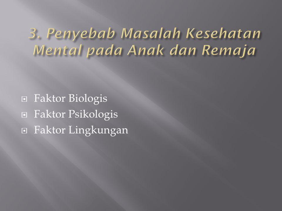 3. Penyebab Masalah Kesehatan Mental pada Anak dan Remaja
