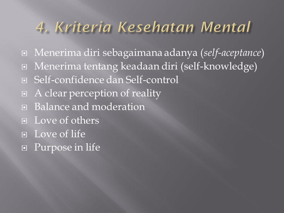 4. Kriteria Kesehatan Mental