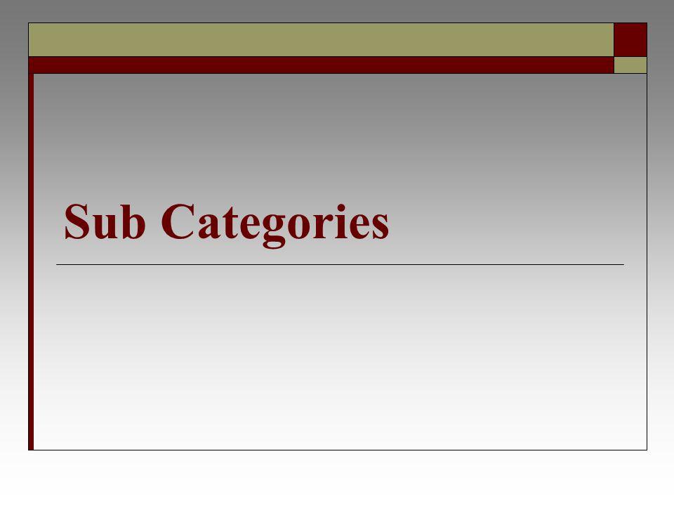 Sub Categories