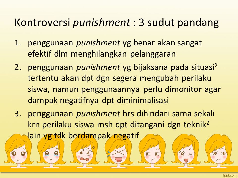 Kontroversi punishment : 3 sudut pandang