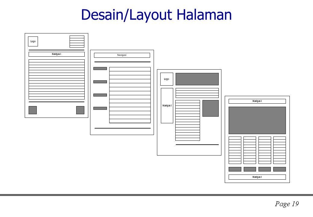 Desain/Layout Halaman
