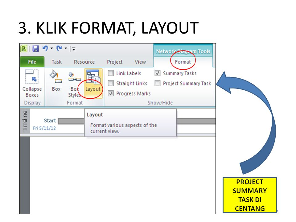 PROJECT SUMMARY TASK DI CENTANG