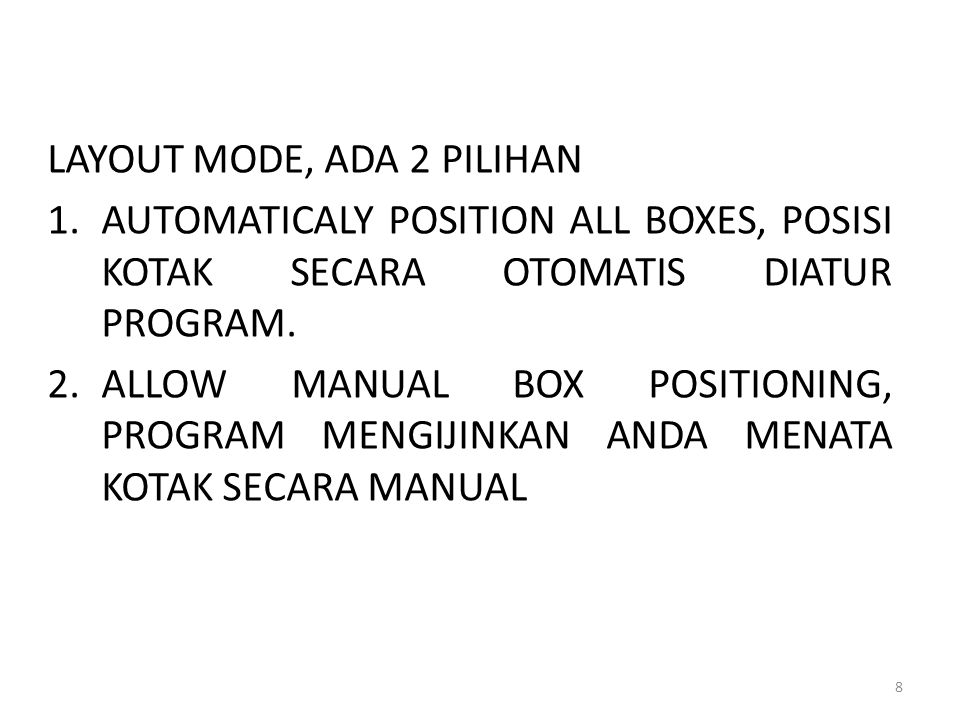 LAYOUT MODE, ADA 2 PILIHAN
