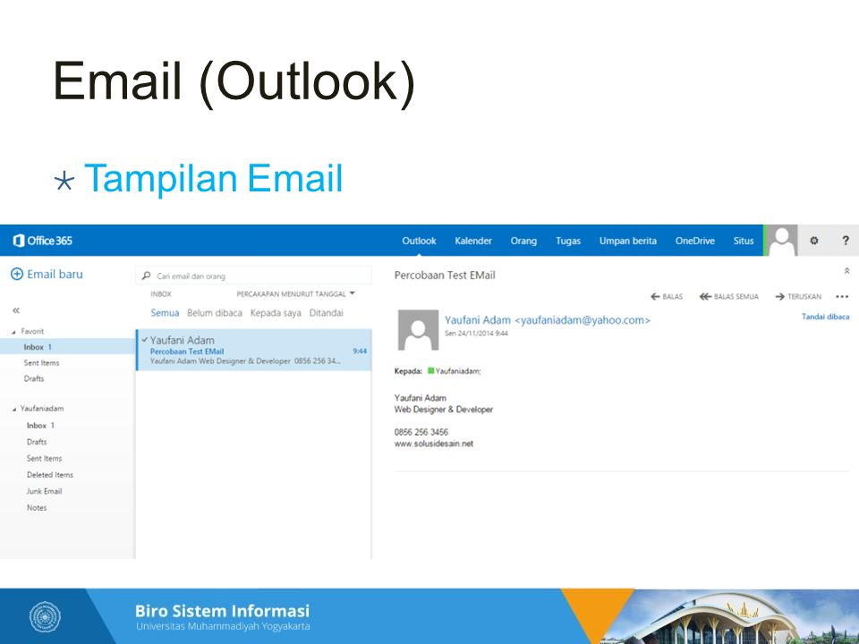 Email (Outlook) Tampilan Email