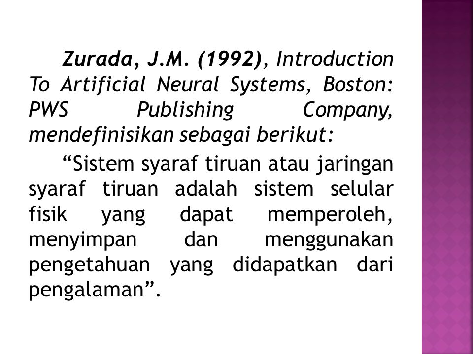 Zurada, J.M.