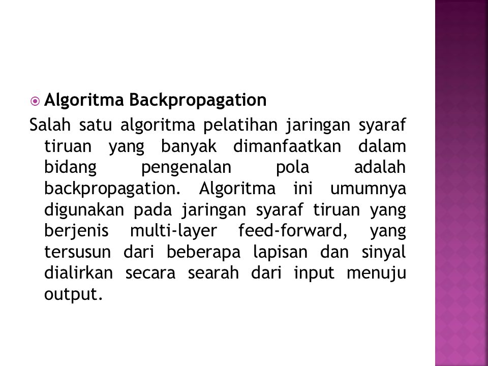 Algoritma Backpropagation