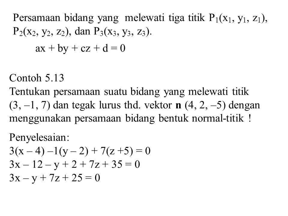 Persamaan bidang yang melewati tiga titik P1(x1, y1, z1),