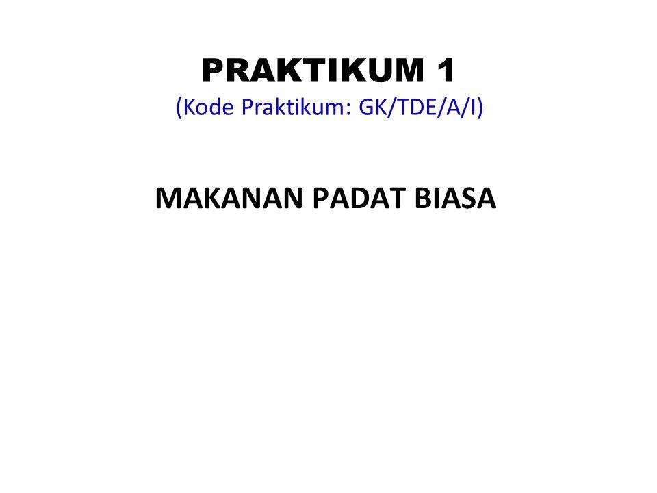 PRAKTIKUM 1 (Kode Praktikum: GK/TDE/A/I)