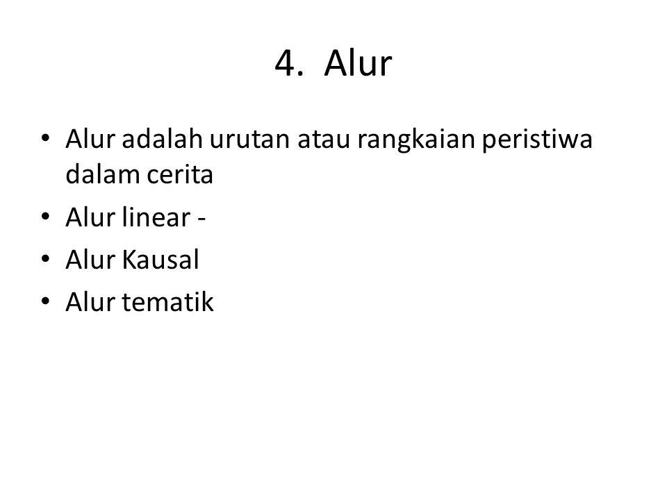 4. Alur Alur adalah urutan atau rangkaian peristiwa dalam cerita