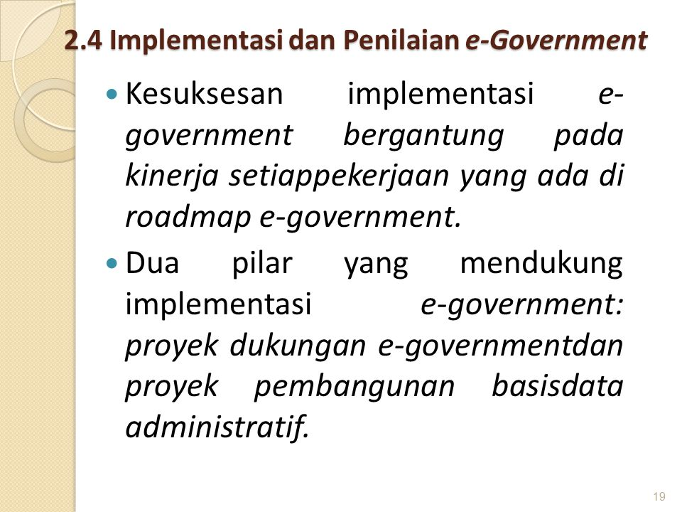 2.4 Implementasi dan Penilaian e-Government