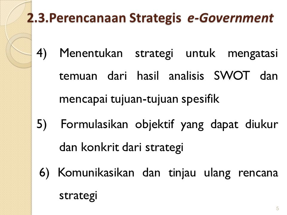 2.3.Perencanaan Strategis e-Government