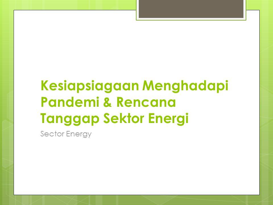 Kesiapsiagaan Menghadapi Pandemi & Rencana Tanggap Sektor Energi